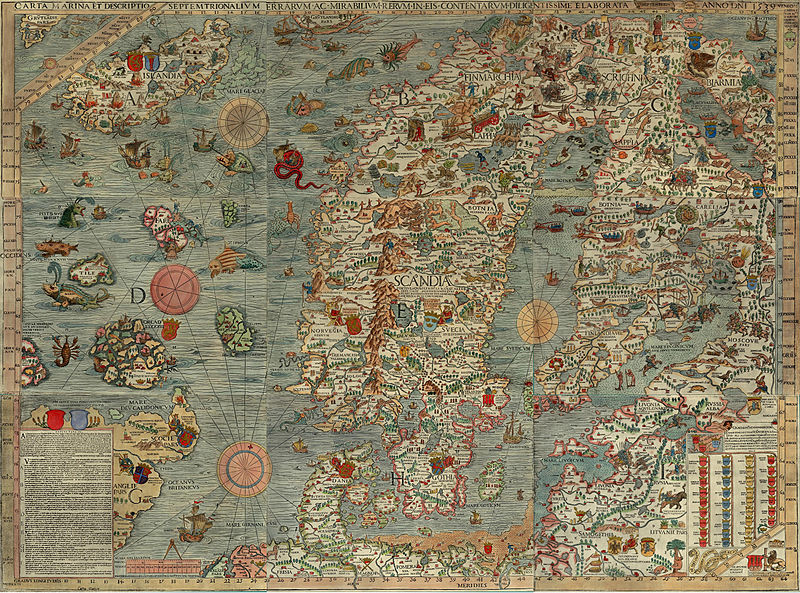Olaus Magnus map 1490
